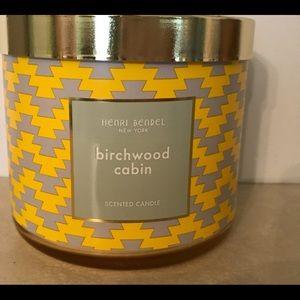 Rare Henri Bendel New York Birchwood Cabin candle